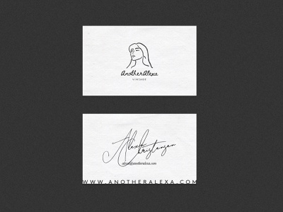 AnotherAlexa Business Card typography design illustration minimalism logo graphic design buisness card businesscard