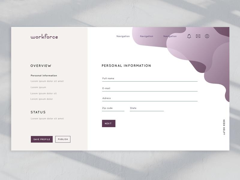 Website #3 - Sign up online graphic design typography minimalism ux design ui website flow purple sign up signup