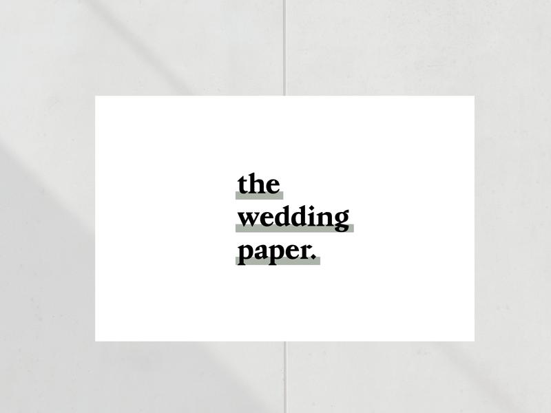 The Wedding Paper minimalism branding graphic design type wedding logo