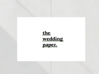 The Wedding Paper