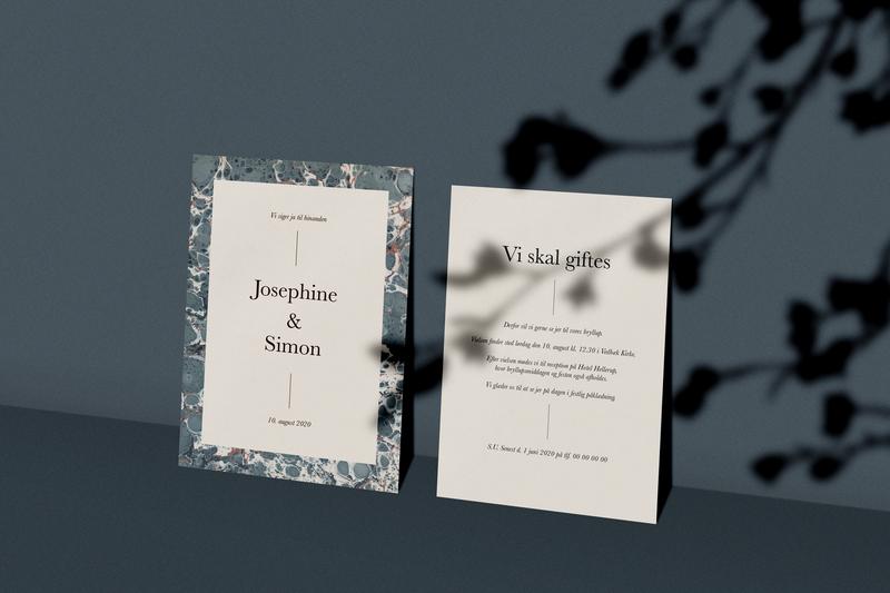 wedding invitation 💍 wedding invitation typography minimalism type a6 mockup graphic design blue invitation card invitation wedding wedding card