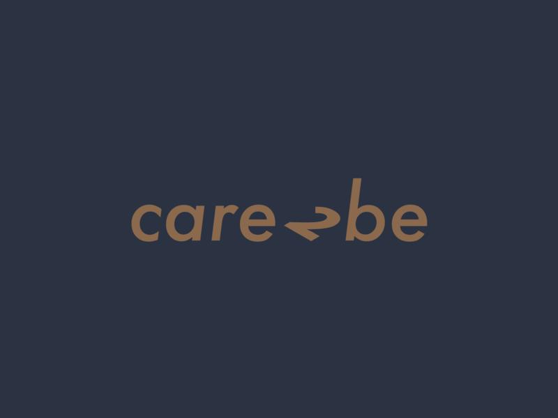 Care2Be logo recruitment 2 minimalism logo type graphic design