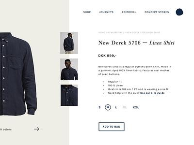 website #4 - product page ux graphic design ui webshop minimalism digital design website web product page