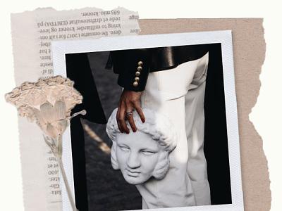 #2 collage flowers scanned newspaper polaroid minimalism graphic design collage
