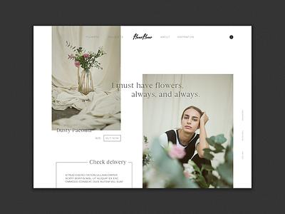 website #5 - fleurfleur ui flower flowershop webshop minimalism graphic design design digital design website design website
