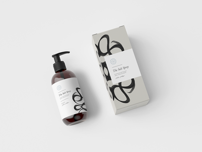 packaging #1 - the salt spray skincare packaging design packaging beauty mockup branding minimalism graphic design