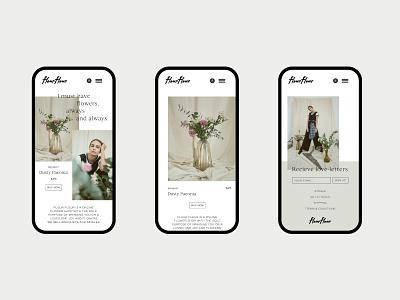 website #5 fleurfleur vol2 flower website typography minimalism graphic design mobile design mobile ui