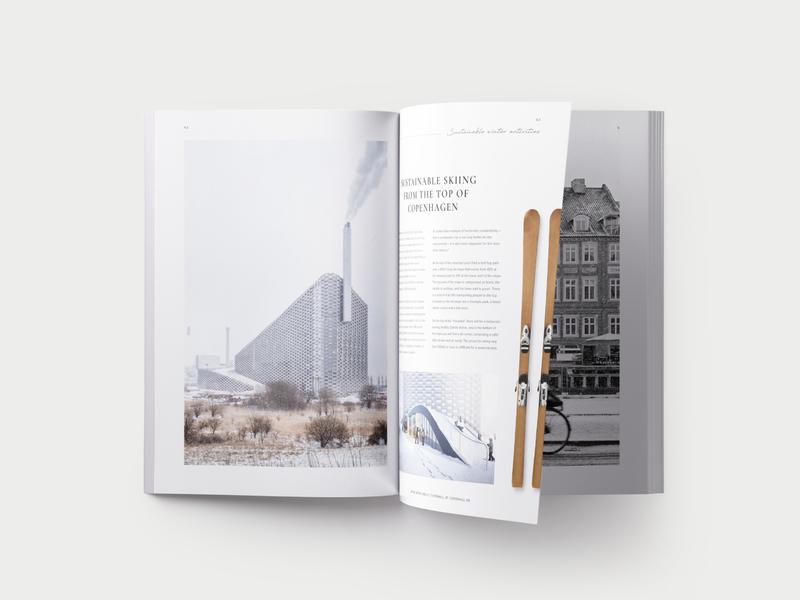 FW19 winter journal design branding print mockup magazine typography minimalism graphic design journal