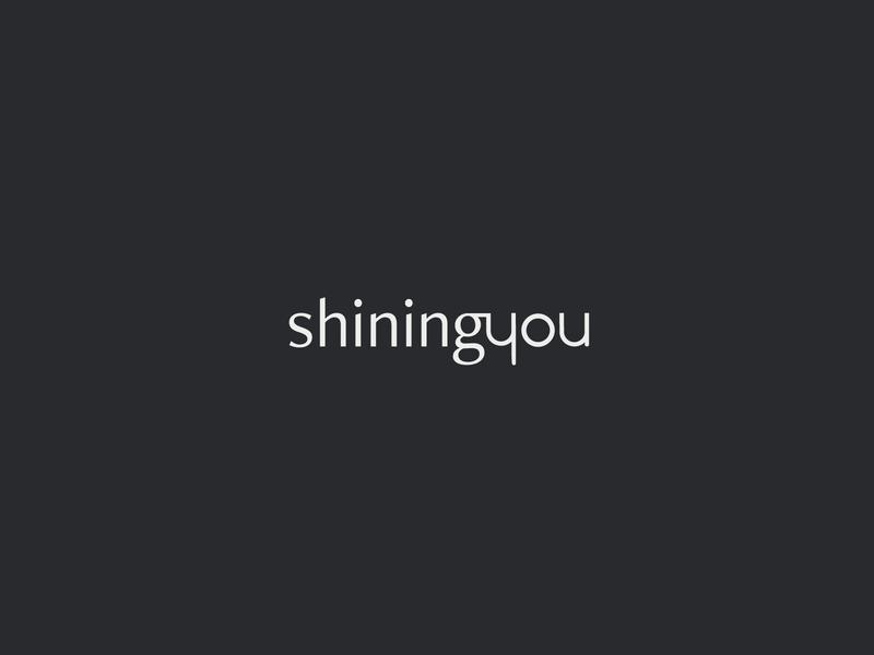 logotype - shiningyou graphic design branding design typography minimalism logodesign logo design logotype logo