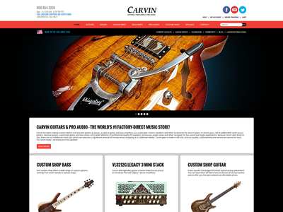 Carvin Web Layout