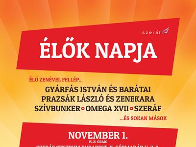 Poster design for Szeráf Gyülekezet print design poster respiro media szeráf gyülekezet