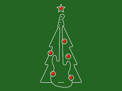Bass Player's Christmas Tree clothing christmas tree christmas long sleeve tee bass guitar bassist bass player