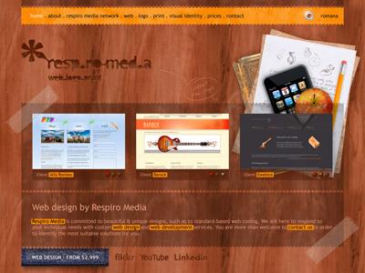 Respiro Media web layout · V2 respiro media psd layout web design digital design psd layout web site design