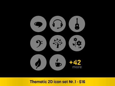Thematic 2D Vector Icon Set · 1 icons vector icons icon set onemanzoo respiro media
