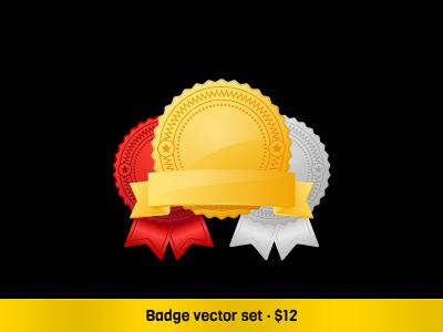 Badge Vector Set icons vector icons icon set vector badges onemanzoo respiro media
