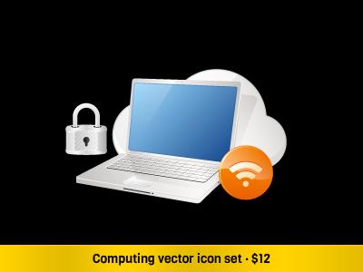 Computing Vector Set icons vector icons icon set onemanzoo respiro media