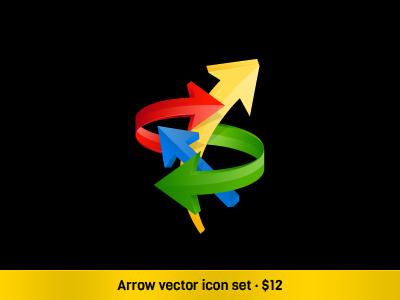 Arrow Vector Set icons vector icons icon set arrows onemanzoo respiro media