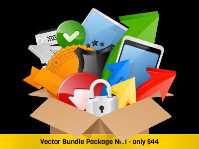 Vector Bundle Package Nr.1 - 6 Vector Sets icons vector icons vector bundle package icon set onemanzoo respiro media