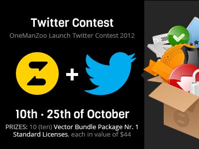 Twitter contest by OneManZoo twitter twitter contest onemanzoo vector vector icon icon set vector bundle respiro media