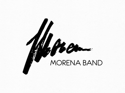 Morena Band logo morena band logo vector handwriting onemanzoo respiro media