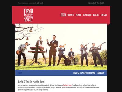 David & The Six Martini Band web layout respiro media onemanzoo david  the six martini band psd layout psd layout web design digital design custom design web site design