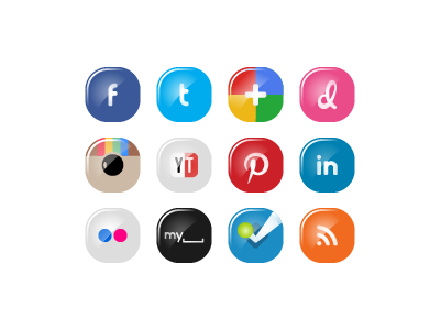 Social Media Icon Set Nr. 1 · FREE ai + psd files respiro media onemanzoo icons icon set vector icons social media social media icons free icons