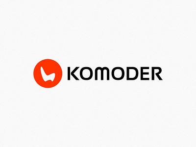 Komoder logo komoder respiro media onemanzoo vector logo digital design