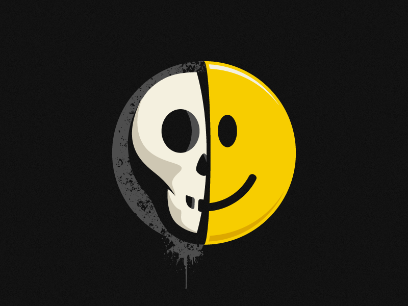Skullsmiley Illustration skullsmiley vector illustration tshirt design threadless skull smiley
