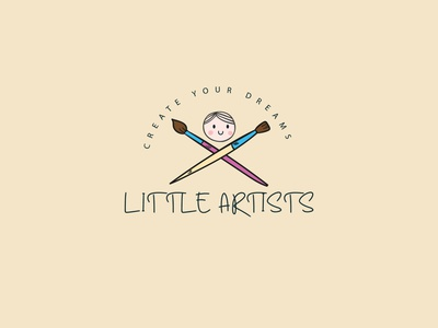 Little Artists business logo design logo design agency logo design concept identity designer buinesslogodesign school logo education logo preschool logo handdrawing charcoaldrawing symbol icon graphicsdesign symbol mark identitydesign branding illustration vector logodesign logo