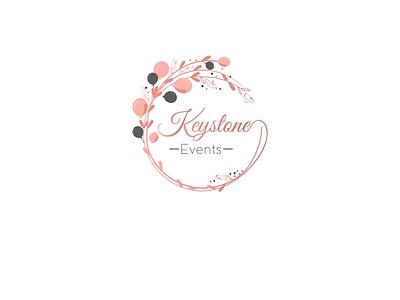Keystone Events Logo  Event Logo makeup logo cosmmeticlogo vectors branding agency fashion branding identitydesign luxury logo feminine design feminine logo floral logo floral art wedding logo event logo symbol logo mark minimalist logo vector logodesign logo