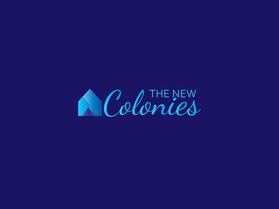 The New Colonies   Real Estate Logo homelogo mortgage ui graphicdesign identity branding branding identity symbol logomakeronline freelancedesigners minimalist logo logo mark vector logodesign logo construction logo park logo appartment realestate logo realestate