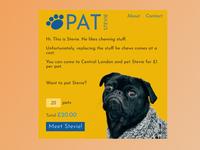 DailyUI 012: Single Item e-Commerce pug ecommerce dailyui
