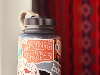 Washington for Refugees! Sticker