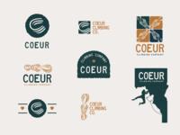 Logo concepts - Coeur Climbing