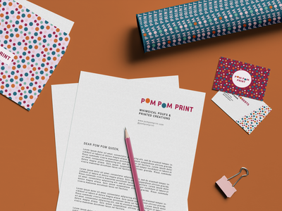 Pom Pom Print - Seamless Patterns seamless pattern seamlesspattern seamless typography flat vector branding illustration design