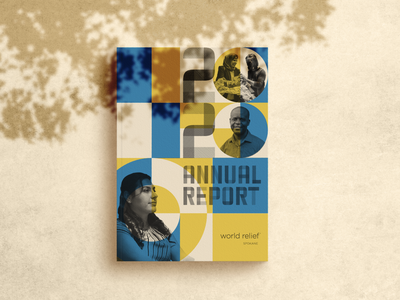 World Relief Annual Report 2020 nonprofit refugee immigrant coverdesign annual report brochure report cover geometric design geometric illustration typography graphic design layout design print layout annual report design annual report