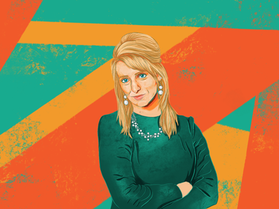 Corporate Portraits: KayC digital painting illustrator branding illustration design