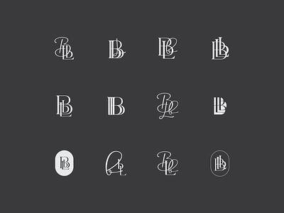 BbL Monogram Exploration illustrator logotype wip badge collection badge icon logo typography vector branding illustration design