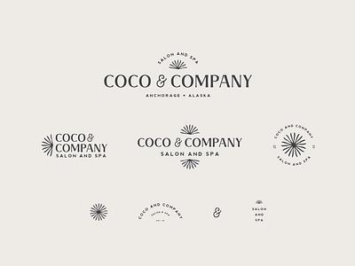 Coco & Company typography logo vector branding illustration design