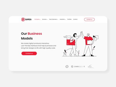 Our Business Models page animation line stroke red website ui clean design animation motion illustration