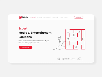 Expert Media & Entertainment Solutions page animation black branding website ui ux clean vector concept motion animation