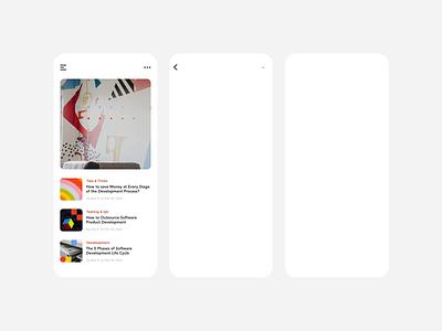 TestFort Geometric Blog Branding animation mobile app geometry blog ui ux clean motion animation