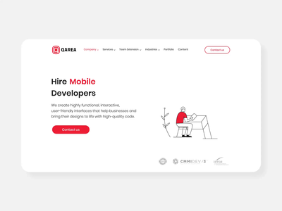 Animation for Mobile developers page