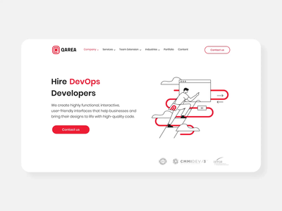 Animation for page Hire DevOps Developers