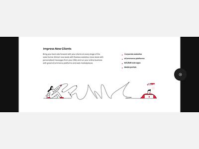 Animated slider for corporate website line stroke svg web black clean vector concept design motion animation illustration