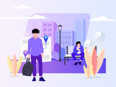 Delta Fresh Illustration app purple design ux uxui dailyui ui digital illustration illustrator