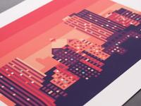 """Rochester Skyline (16"""" x 20"""")"""