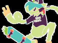 Green SkateSquatch