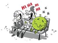 Making new friends webcomic children illustrator cartoon editorial cartoon caricature funky character vector illustration character design comics