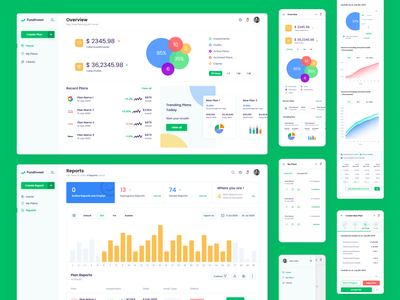 Fund Management System user interface design user experiance dashboard uiux adobe xd adobe illustrator interaction design aesthetic visual design flat colors